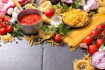 italian food background ingredient