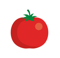 Tomato icon in flat style. Isolated on white background. Tomato logo. Vector stock.