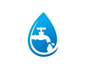 Clean Water Logo Template Design Vector, Emblem, Design Concept, Creative Symbol, Icon