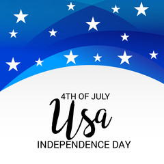 4th of July Usa Independence Day.