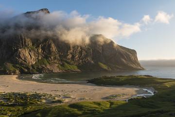 Cliff of sandy Horseid beach