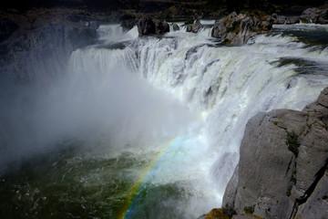 Powerful Large Waterfall Shoshone Falls Amazing Beauty Water Fall