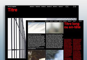 Modèle de magazine numérique- Tons sombres