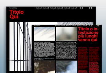 Layout scuro rivista digitale