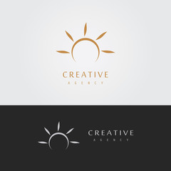 abstract sun logo