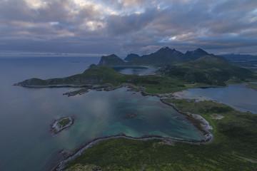 View of coastal mountains