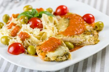 Chicken fillet in tomato sauce
