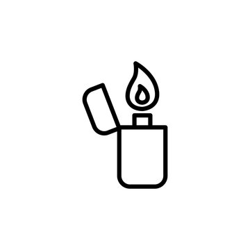thin line lighter icon on white background