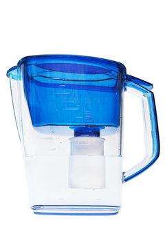 modern water filter on white background