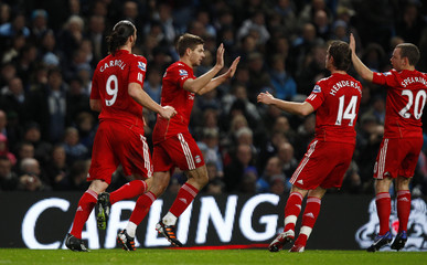 Manchester City v Liverpool Carling Cup Semi Final First Leg