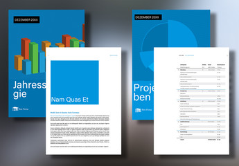 Layout für Unternehmensbericht und -vorschlag