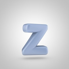 Serenity color letter Z lowercase isolated on white background
