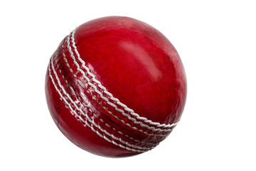 cricket ball on white background