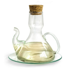 Decanter with  vinegar isolated