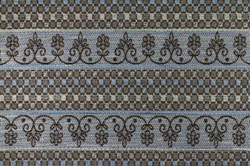 Brown - blue background with an abstract pattern.