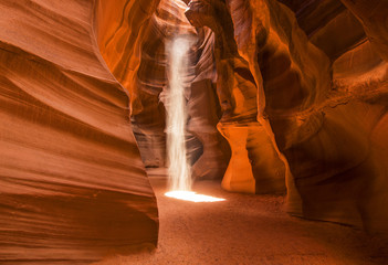 Light Beams Inside Antelope Canyon , Page, Arizona