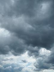 Overcast Gloomy thunder clouds