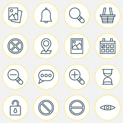 Internet Icons Set. Collection Of Exit, Message Bubble, Obstacle And Other Elements. Also Includes Symbols Such As Sand, Eye, Remove.