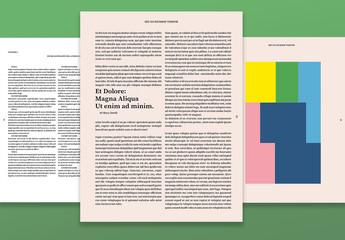 Diseño de revista de arte y cultura
