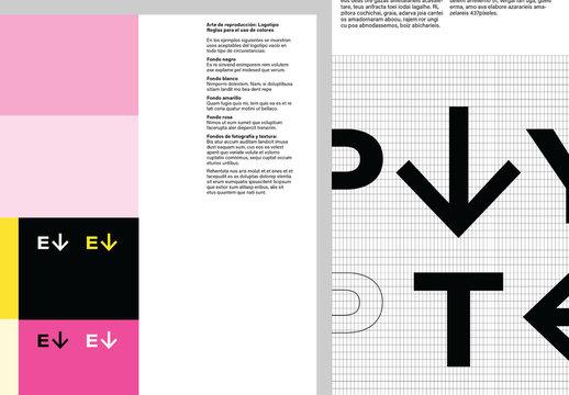 Diseño hábil para guía de estilo de la marca