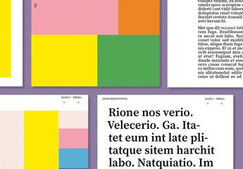 Kreatives Layout für digitale Zeitschriften