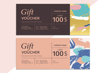 Patterned Gift Voucher Layout 2