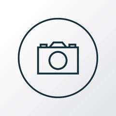 Camera Outline Symbol. Premium Quality Isolated Photo  Element In Trendy Style.