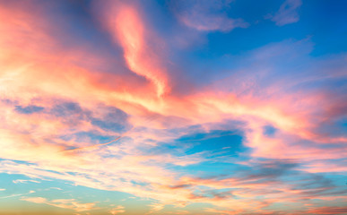 Wall Mural - Red - blue sky at sunset