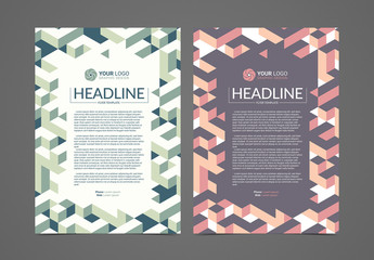 Multipurpose Flyer Layout with Isometric Elements 2