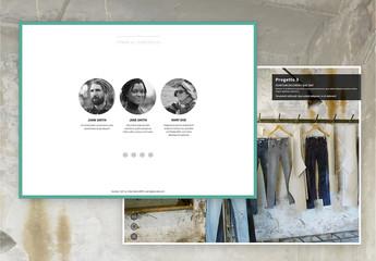 Layout portfolio a mosaico interattivo