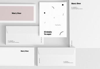 Conjunto de papelería moderna