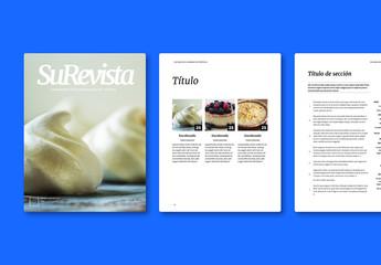 Diseño de revista culinaria