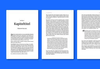 Klassisches Buch-Layout für ePub