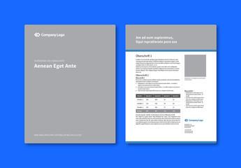 Firmendatenblatt-Layout