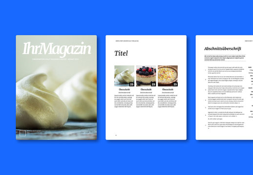 Kochzeitschriften-Layout