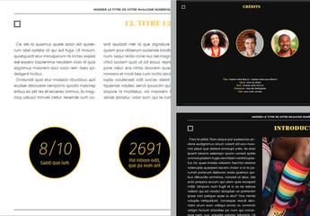 Modèle de magazine numérique- Art
