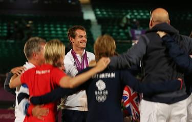 London 2012 Olympic Games - Tennis - Men's Singles Final - Great Britain - Andy Murray v Switzerland - Roger Federer