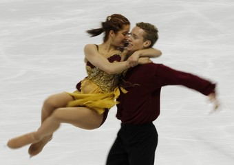 Samuelson and Bates of the US perform in the ice dance free dance figure skating event at the Vancouver 2010 Winter Olympics