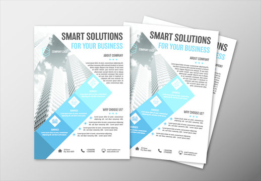 Modern Business Flyer Layouts in Two Sizes 4