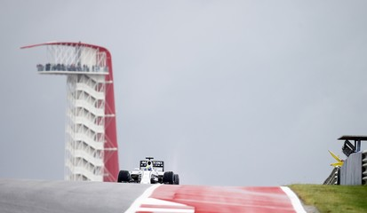Williams Formula One driver Massa of Brazil comes out of spin out under a yellow flag during the first free practice session of the United States Grand Prix in Austin, Texas