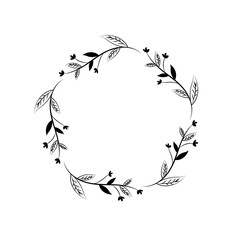 rustic branches with leaves design