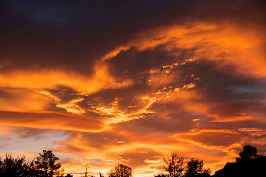 Dramatic Desert Sunset Clouds