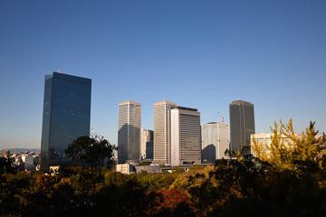 大阪城から見る大阪の街並