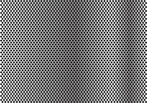 Abstract metal circle mesh pattern wallpaper background texture vector illustration.