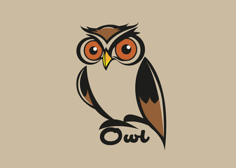 Vector abstract, Simple shape of owls as symbols or logos