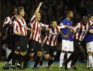 Brentford v Everton Carling Cup Third Round
