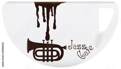 Coffee Cup With Symbol Jazz Cafe Stock Image And Royalty Free