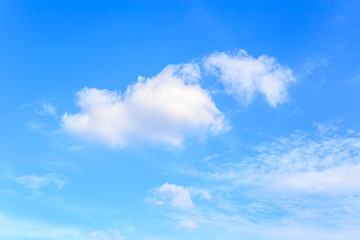Blue sky and clouds for background usage.