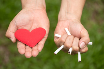 Quitting smoking strengthens the heart.