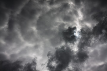 background from sky and dark storm clouds